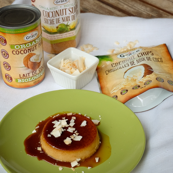 Coconut creme caramel with Grace Foods on eatlivetravelwrite.com