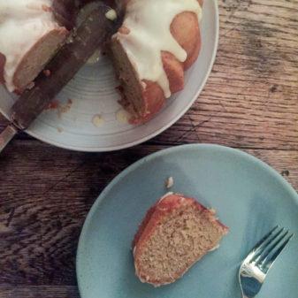 Gingered applesauce cake on eatlivetravelwrite.com