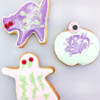 Kids decorated cookies for Halloween on eatlivetravelwrite.com