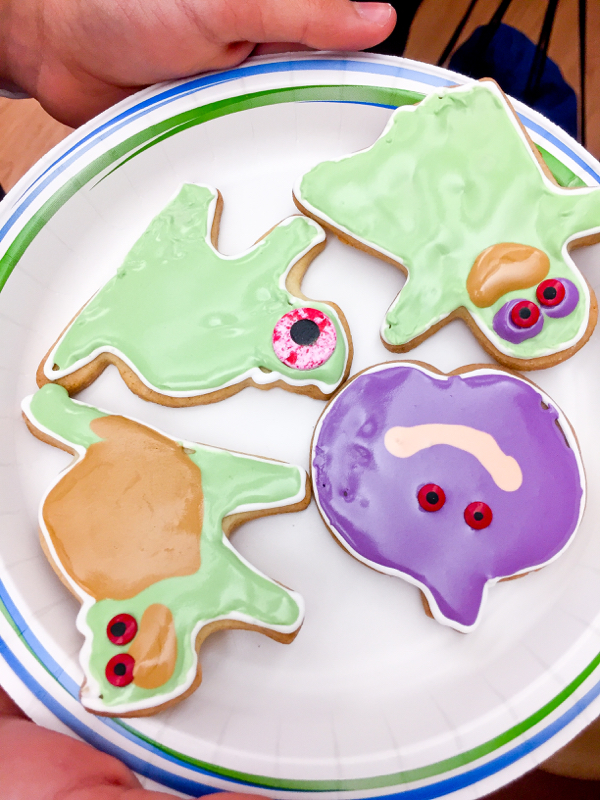 Halloween cookies decorated by kids on eatlivetravelwrite.com