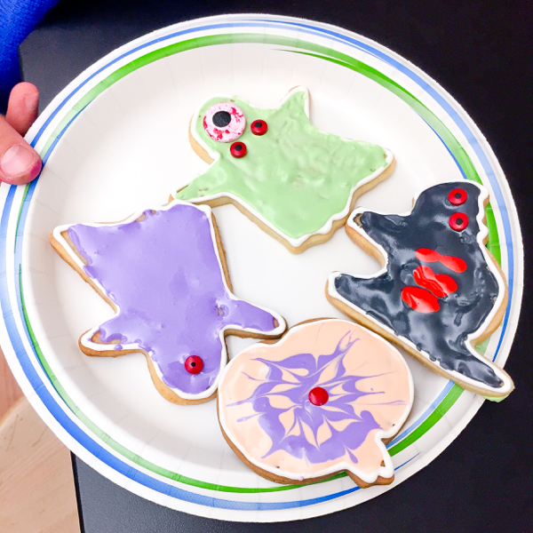 Scary cookies for Halloween on eatlivetravelwrite.com