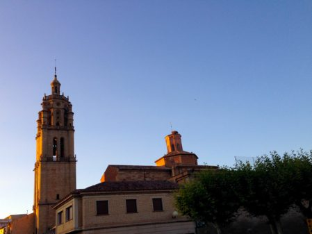 Evening light in Los Arcos with Camino Travel Center on eatlivetravelwrite.com