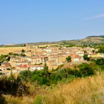 View of Torres del Rio walking the Camino with Caminon Travel Center on eatlivetravelwrite.com