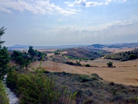 Landscape en route to Viana walking the Camino with Caminon Travel Center on eatlivetravelwrite.com