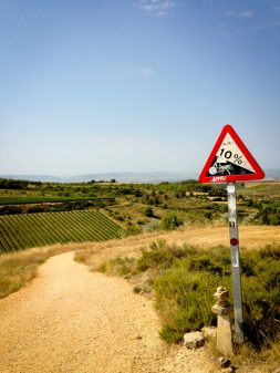 Steep descent walking the Camino with Caminon Travel Center on eatlivetravelwrite.com