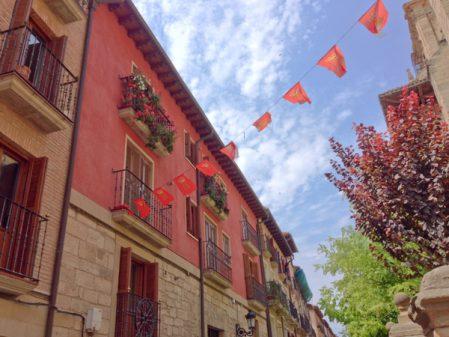 Looking up in Viana on the Camino de Santiago with Camino Travel Center on eatlivetravelwrite.com