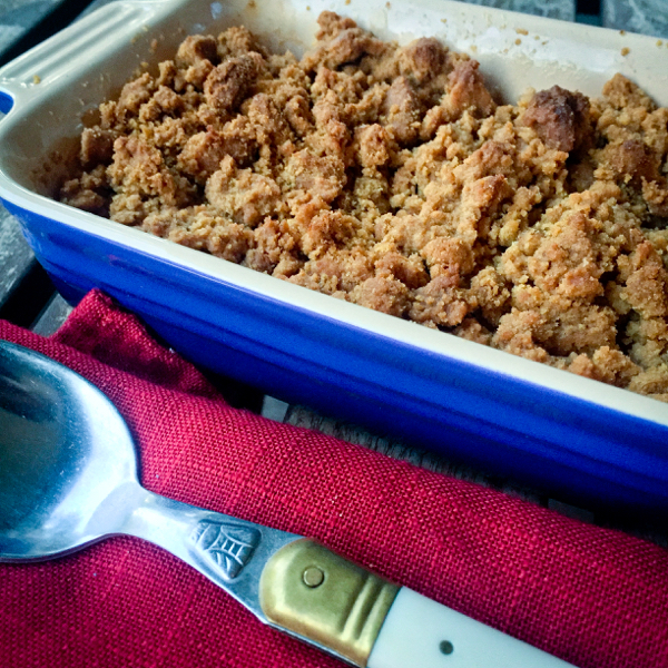 Dorie Greenspan apple cookie crumble on eatlivetravelwrite.com