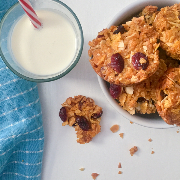 After school cranberry almond crunch cookies on eatlivetravelwrite.com