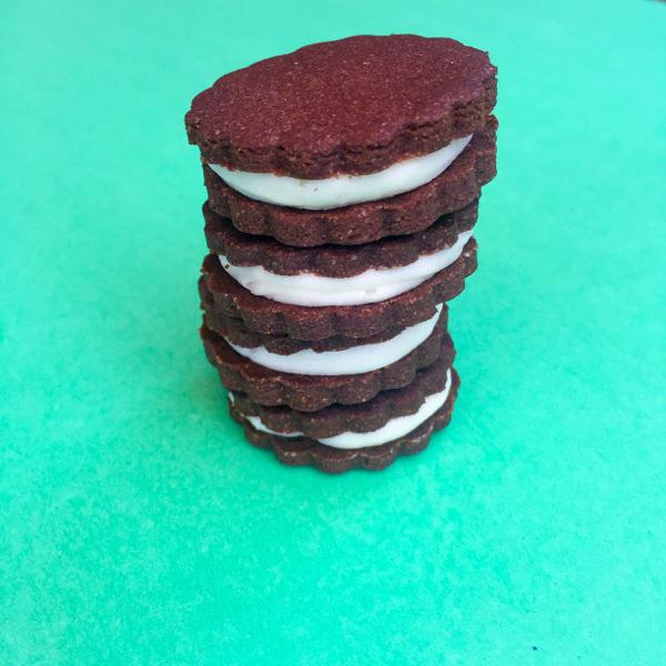 Chocolate sandwich cookies by Dorie Greenspan on eatlivetravelwrite.com