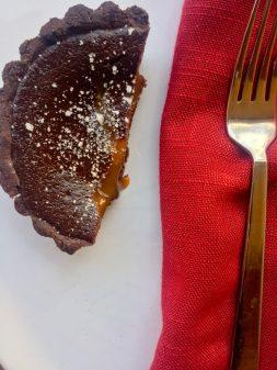 My Paris Kitchen Chocolate Dulce de Leche tart on eatlivetravelwrite.com