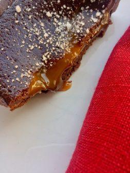 Chocolate dulce de leche tart from David Lebovitz on eatlivetravelwrite.com