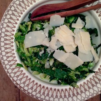 Brussels Sprouts Salad with Anchovy Dressing from Food 52 A New Way to Dinner on eatlivetravelwrite.com