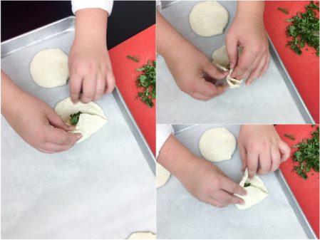 Kids pleating Georgian cheese filled quick breads on eatlivetravelwrite.com