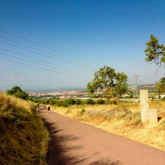 Logrono in sight on the Camino de Santiago with Camino Travel Center on eatlivetravelwrite.com