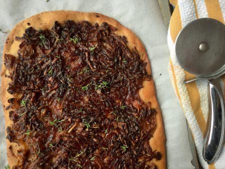David Lebovitz onion and anchovy tart from My Paris Kitchen on eatlivetravelwrite.com