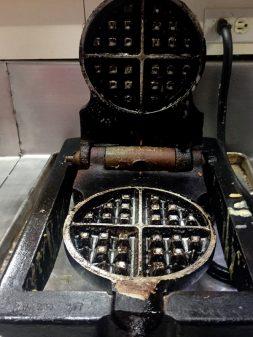 Waffle maker at Lisa Marie on eatlivetravelwrite.com