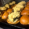 Mac and cheese burgers by Matt Basile at Lisa Marie on eatlivetravelwrite.com