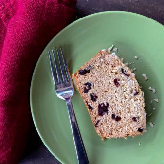 Slice of Dorie Greenspan spiced honey cake on eatlivetravelwrite.com