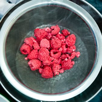 Freeze dried raspberries with John Placko on eatlivetravelwrite.com