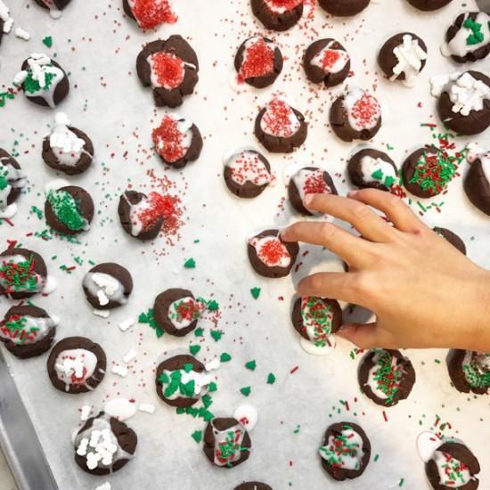 Abby Dodge chocolate thumbprint cookies on eatlivetravelwrite.com