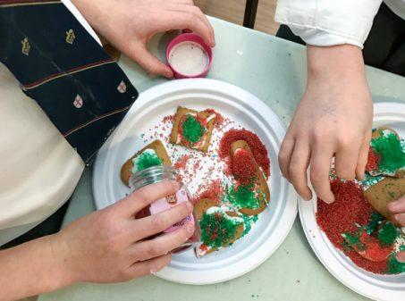 Kids decorate Jamie Oliver gingerbread on eatlivetravelwrite.com