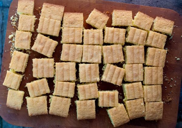 Yellow cake for lamingtons on eatlivetravelwrite.com