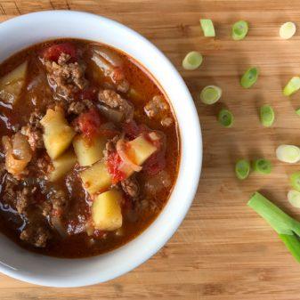 Goulash soup on eatlivetravelwrite.com