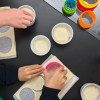 Cutting pastry rounds with kids on eatlivetravelwrite.com