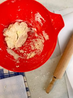 Rough puff pastry coming together with kids on eatlivetravelwrite.com