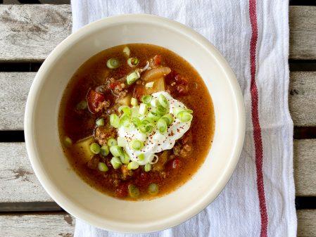 Goulash soup recipe on eatlivetravelwrite.com