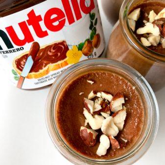 Pots de creme with Nutella on eatlivetravelwrite.com