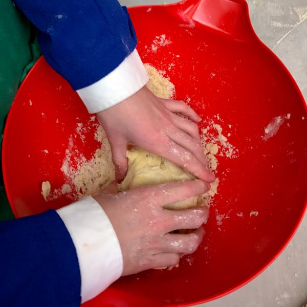 Shortcrust dough coming together on eatlivetravelwrite.com