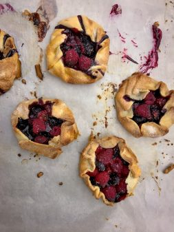 Mini berry galettes by kids on eatlivetravelwrite.com