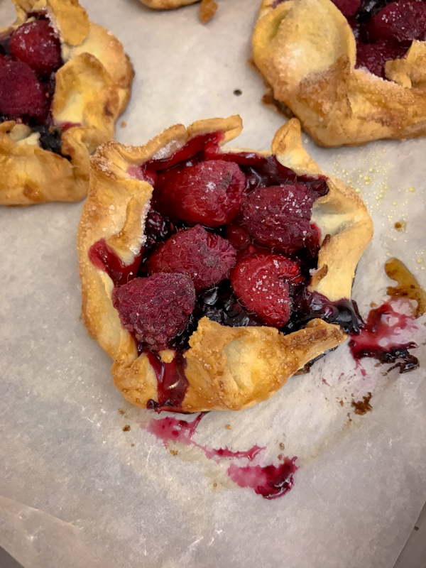 Mini berry galettes made by kids on eatlivetravelwrite.com