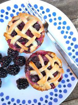Sweet and Simple mini lattice pies on eatlivetravelwrite.com