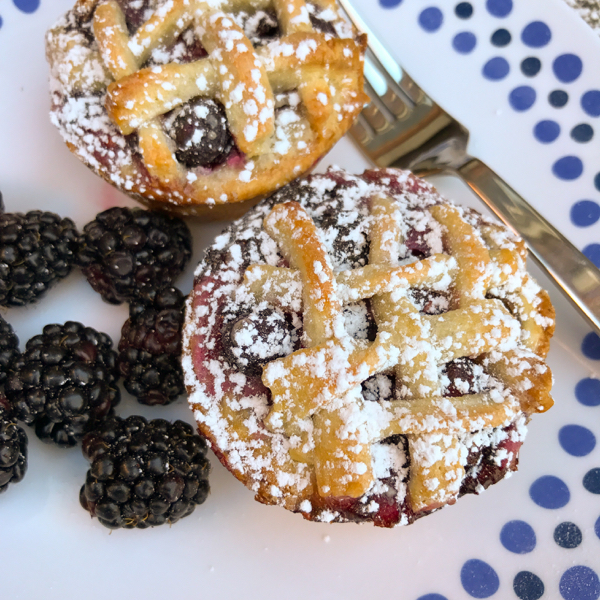 Christina Lane Sweet and Simple mini lattice pies on eatlivetravelwrite.com