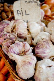 Garlic at the market in Lyon image on eatlivetravelwrite.com