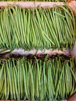 Green beans at the market in Lyon image on eatlivetravelwrite.com