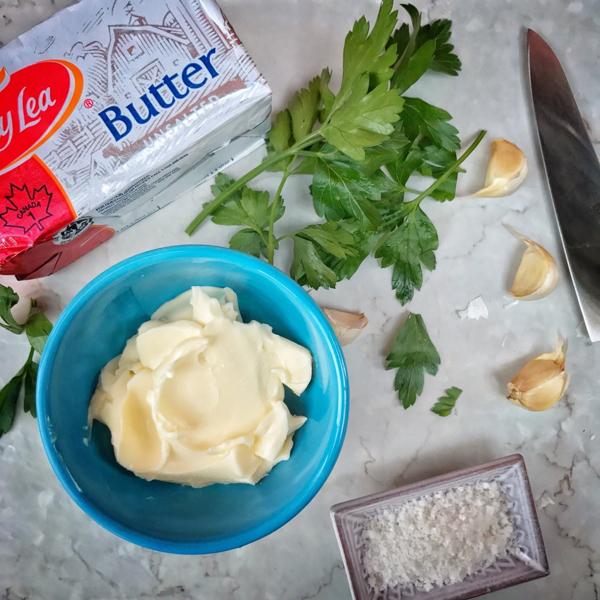 Ingredients for compound butter image on eatlivetravelwrite.com