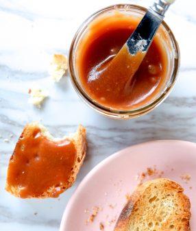 Salted butter caramel spread image on eatlivetravelwrite.com
