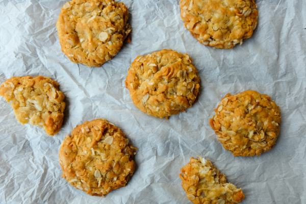 Dorie Greenspan ANZAC biscuits image on eatlivetravelwrite.com