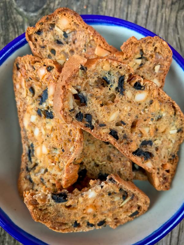 Salted olive crisps from My Paris Kitchen image on eatlivetravelwrite.com