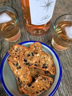 Salted olive crisps and rose image on eatlivetravelwrite.com