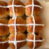 Orange cranberry hot cross buns image on eatlivetravelwrite.com