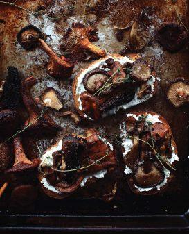 Wild Mushroom Toasts from FEAST on eatlivetravelwrite.com