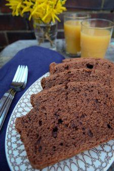 Coffee chocolate quickbread recipe on eatlivetravelwrite.com