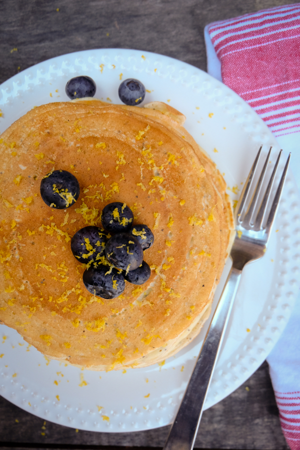 Lemon cottage cheese pancakes with blueberries on eatlivetravelwrite.cm