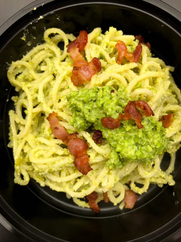 Jamie Oliver Skinny Carbonara with smoky bacon and peas from Everyday Super Food on eatlivetravelwrite.com