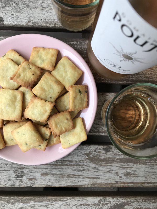 Dorie Greenspan goat cheese and chive cookies on eatlivetravelwrite.com