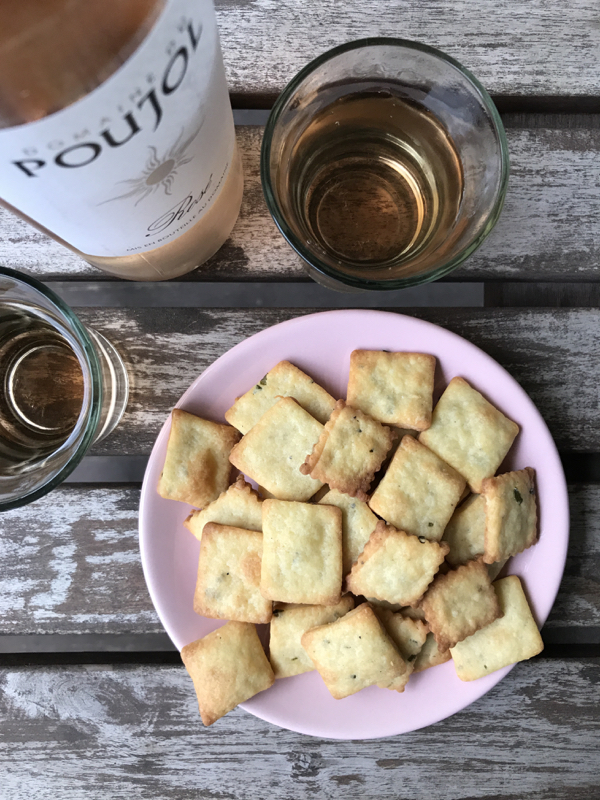 Dorie Greenspan goat cheese and chive cookies from Dories Cookies on eatlivetravelwrite.com